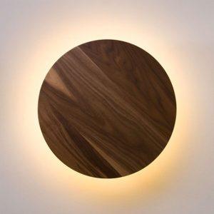 מנורת קיר עגול עץ