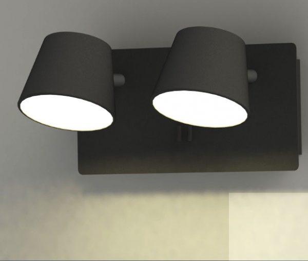 מנורה צמודה לקיר דגם שילה שחור