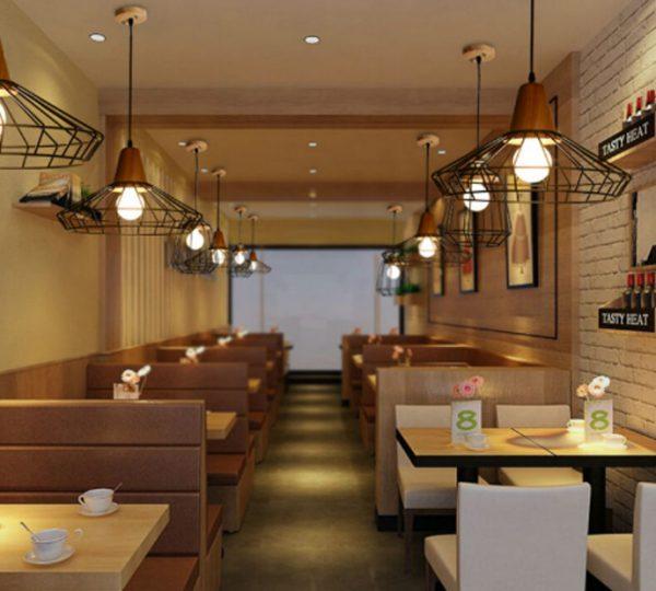 מסעדה מעוצבת בגופי תאורה דגם ROBI