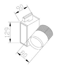 מידות גוף תאורה דגם הירו