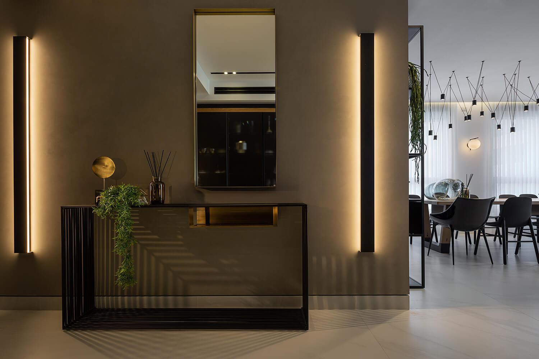 תאורה צמודה לקיר בעיצוב אדריכלי מבית סיטי לייט
