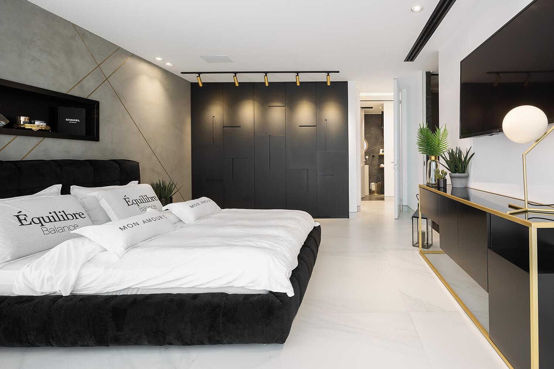 מסלול תאורה מקצועית לחדר שינה