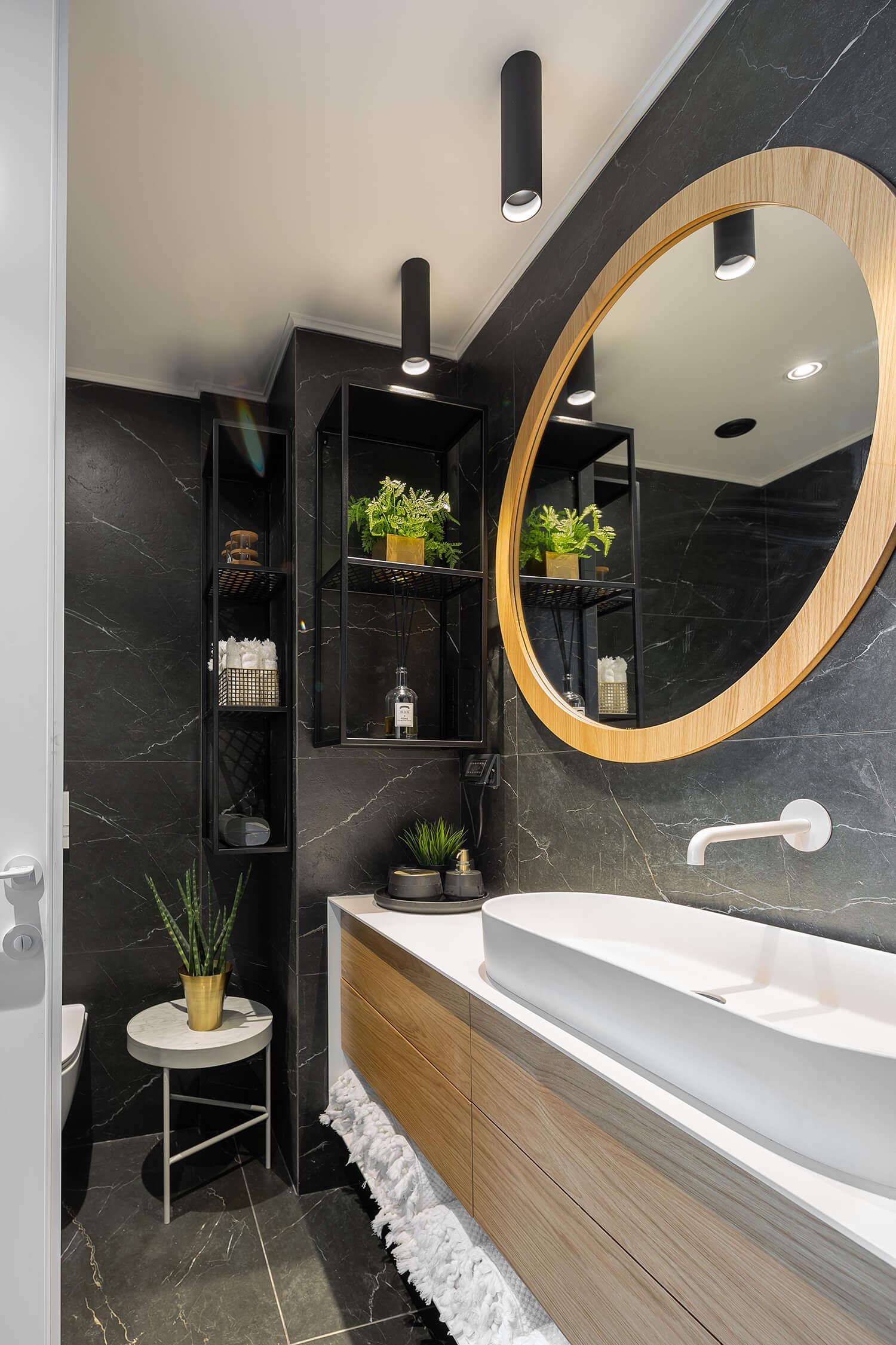 תאורה מקצועית ומעוצבת לחדר מקלחת