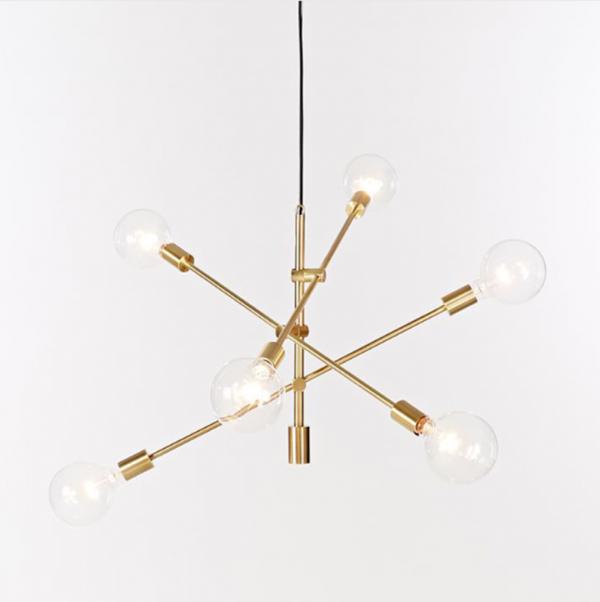 מנורה תלויה דגם BE STICKS זהב