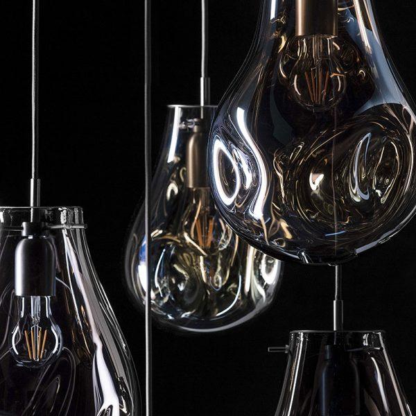 מנורה תלויה דגם DROP שקוף