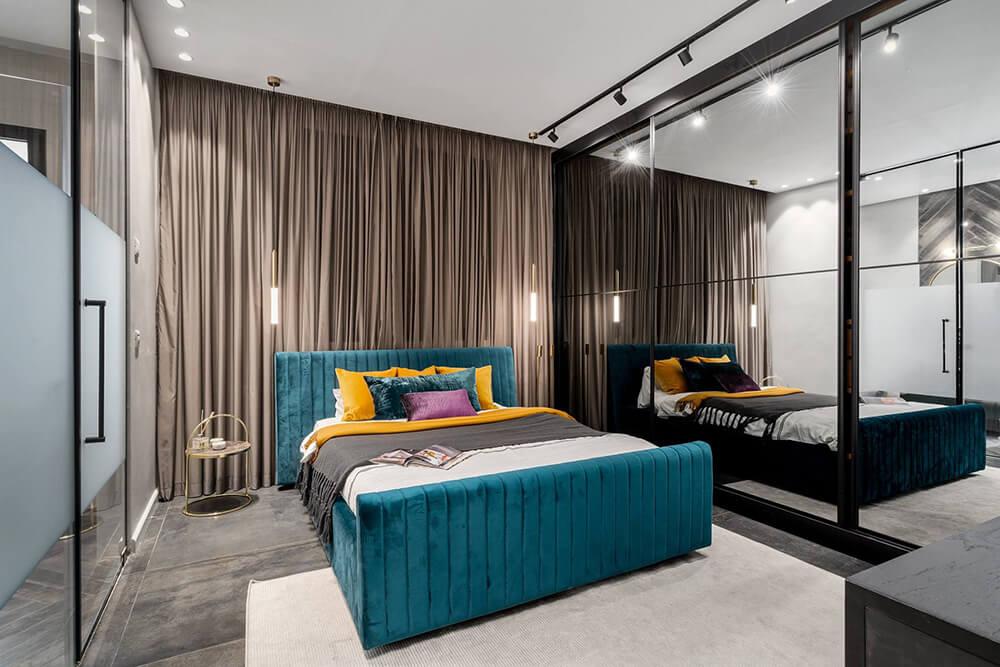 וילונות מעוצבים לחדר שינה להשלמת העיצוב