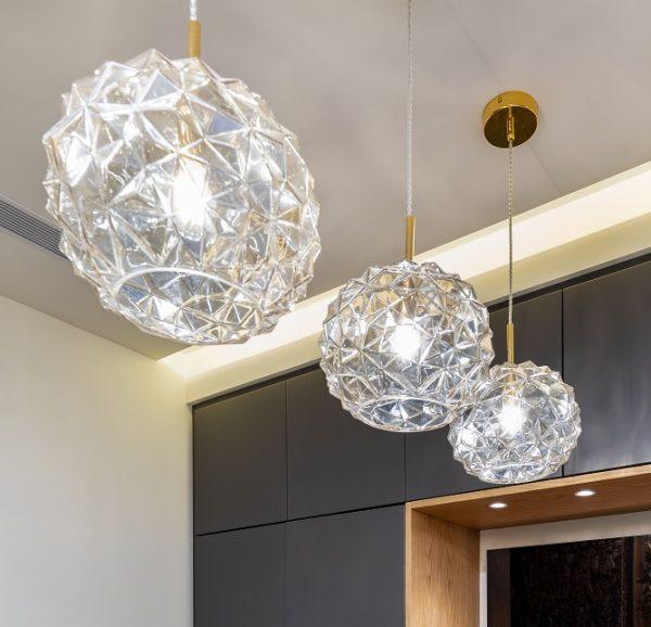 תאורה מזכוכית בעיצוב קריסטל דגם אנסטסיה