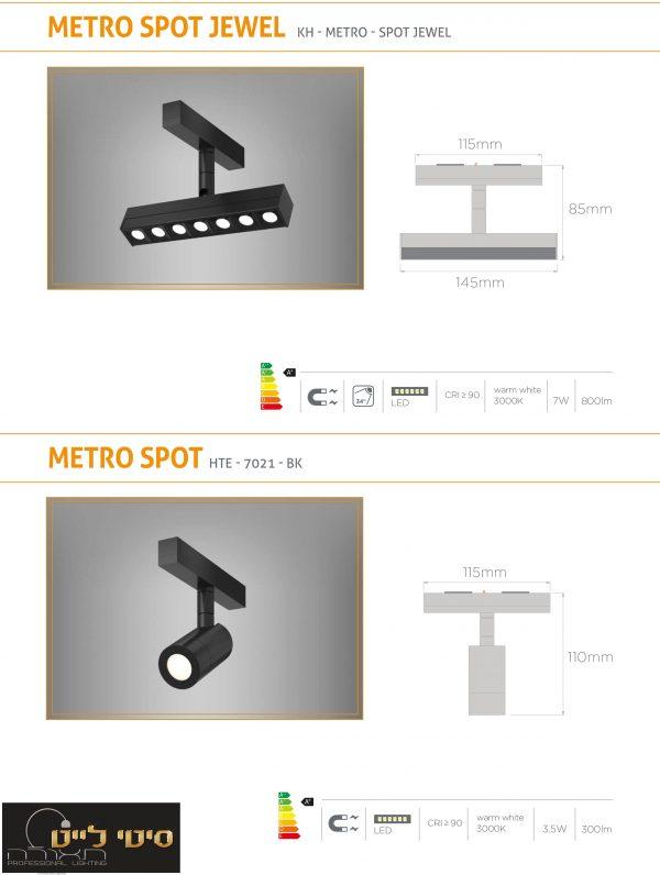 גוף תאורה ספוט דגם METRO - מערכת תאורה מגנטית