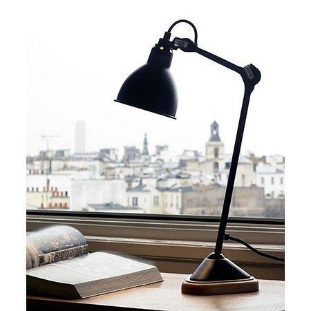 מנורת שולחן שחורה דגם METROPOLITAN