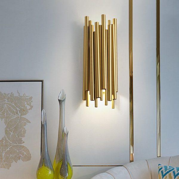 תאורה יוקרתית בצבע זהב