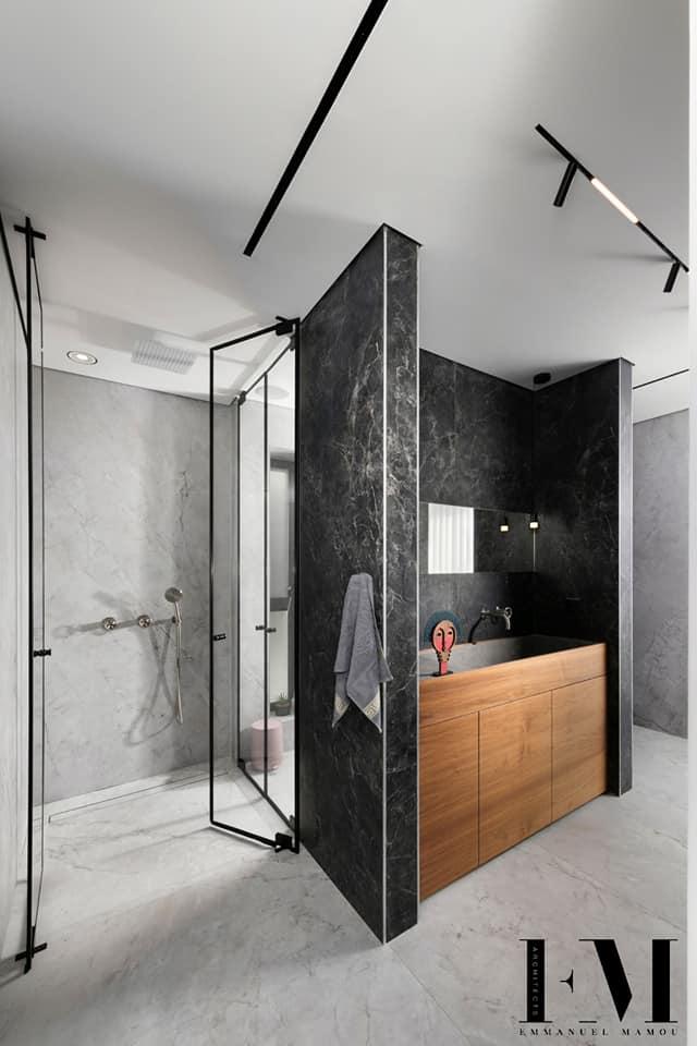 מקלחת מודרנית מעוצבת