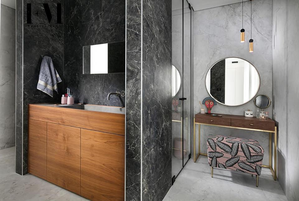 מקלחת בעיצוב אדיריכלי