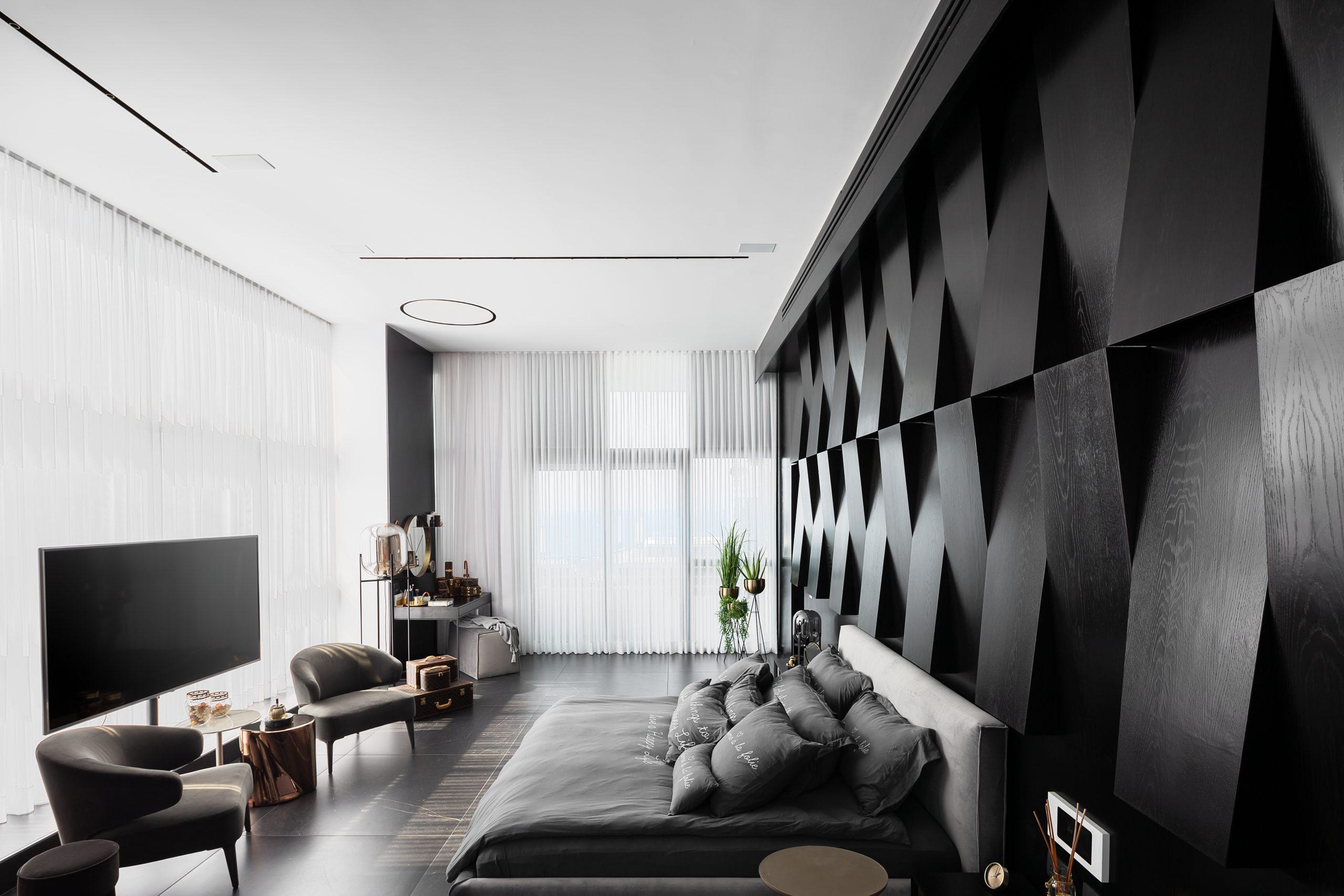 עיצוב חדר שינה מודרני שמשדר יוקרה