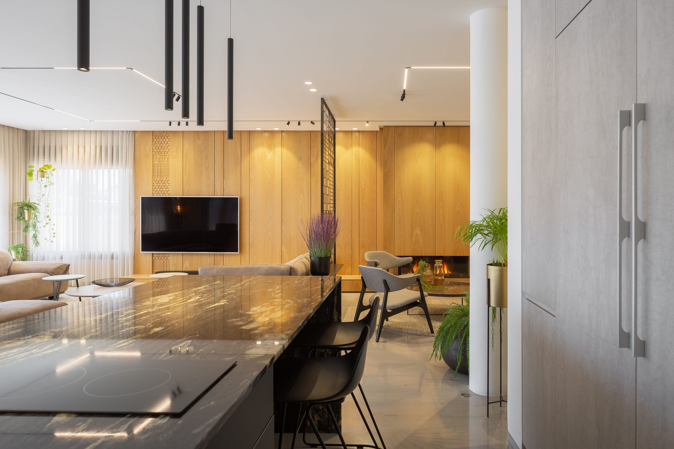 גופי תאורה מעוצבים למטבח
